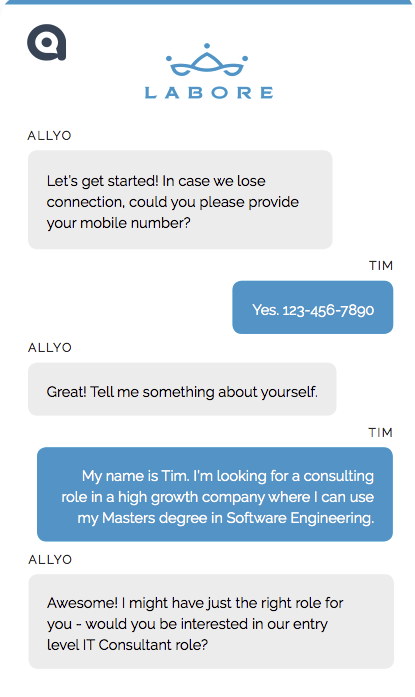 Search and Apply with AI-led recruiting