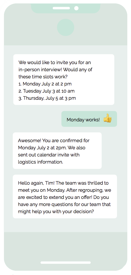 Schedule and Hire with AI-led recruiting